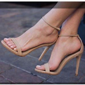 Steve Madden Nude Strappy Heels Sz 6